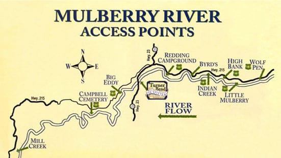 Mulberry River access points